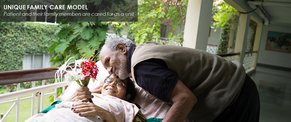 UNIQUE FAMILY CARE MODEL - Patient and their family members are cared for as a unit